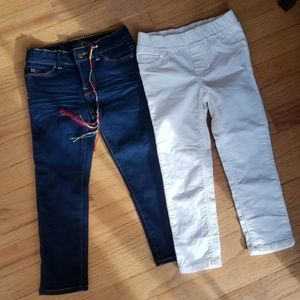 Girls 2 pair of pants
